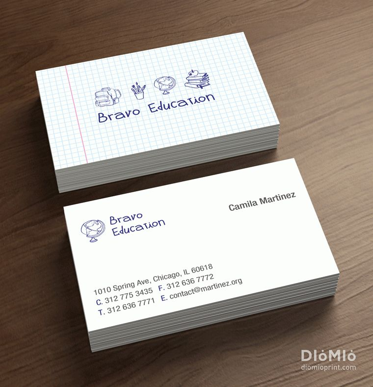 Teacher business card | Education, Instructor