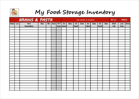 Food Inventory Template - 11 Free Excel, PDF Documents Download ...