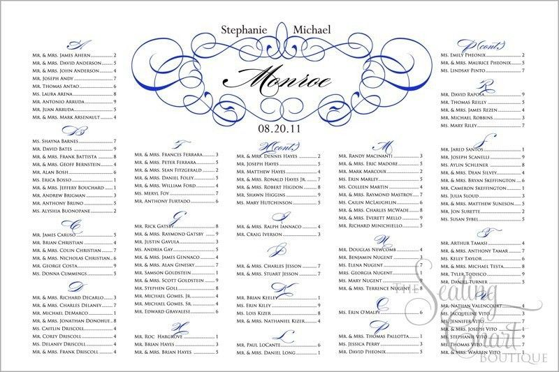 Wedding Ceremony Latest Trend Model Wedding Seating Chart Template ...