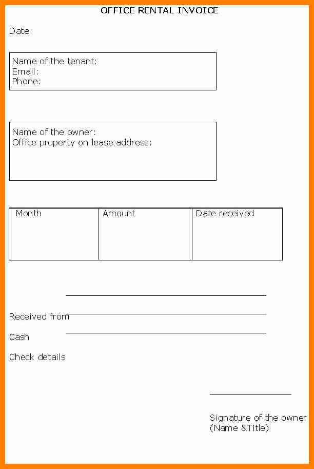 4+ rent invoices template | forklift resume