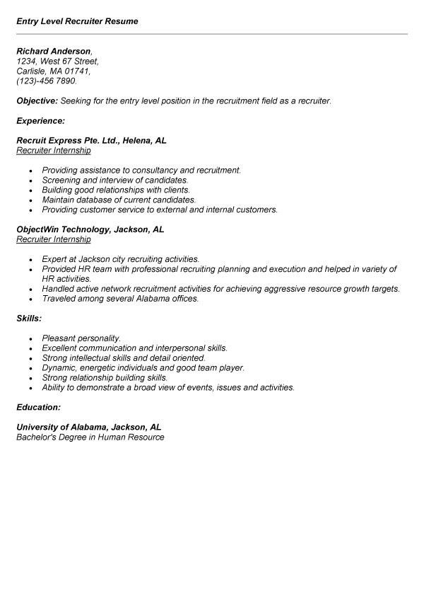 Write An Entry Level Resume Sales Lewesmr Regarding 17 Excellent ...