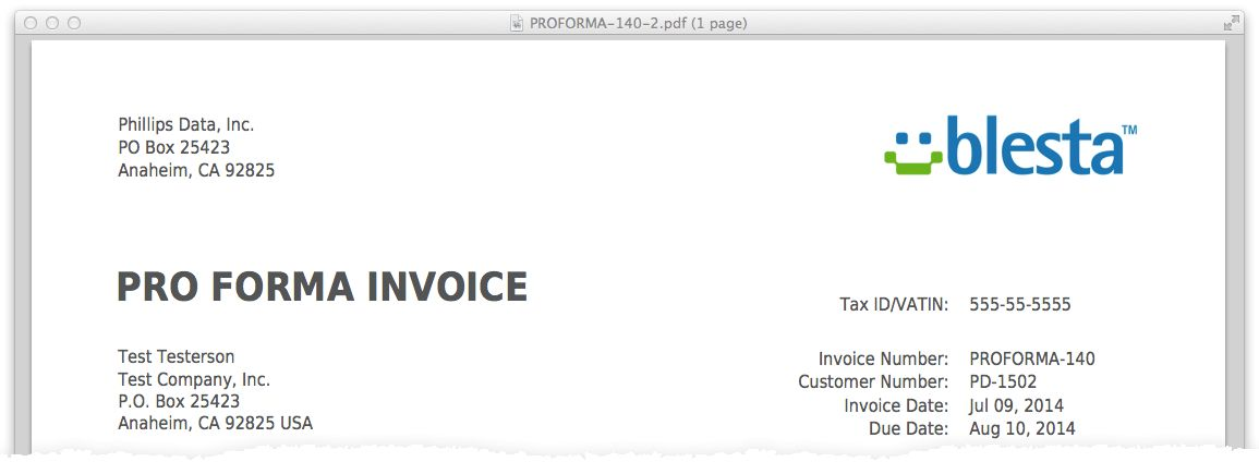 Download Format of Proforma Invoice | rabitah.net
