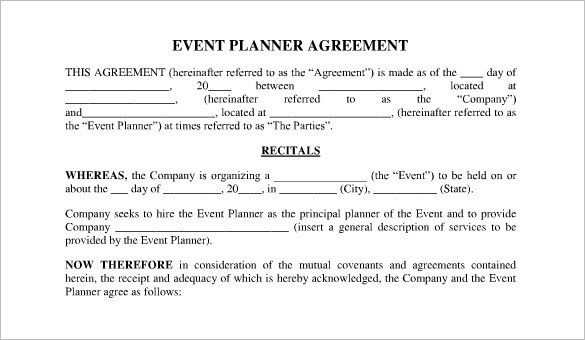 Event Contract Templates. Portrait Contract Legal Documents A ...