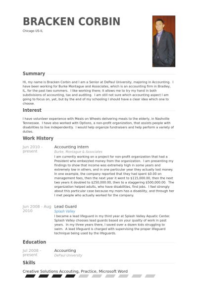 28+ [ Accounting Internship Resume Samples ] | Best Training ...