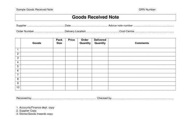 Every Bit of Life Goods Receipt Note (GRN) Format : Selimtd
