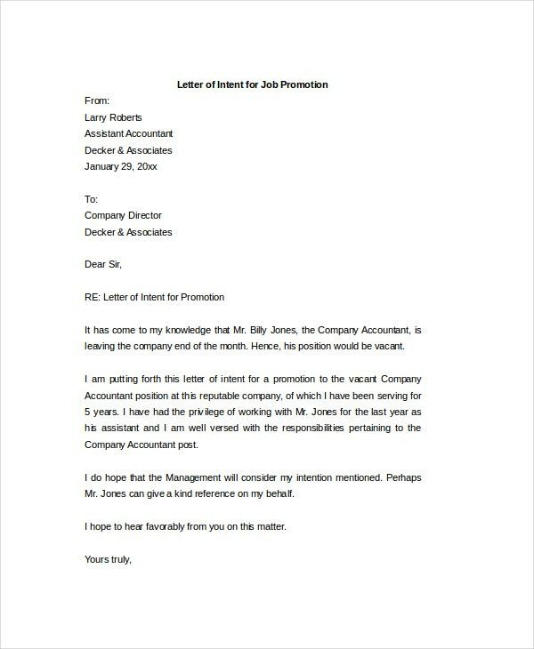 Letter of Intent - 15+ Free Word, PDF Documents Download | Free ...