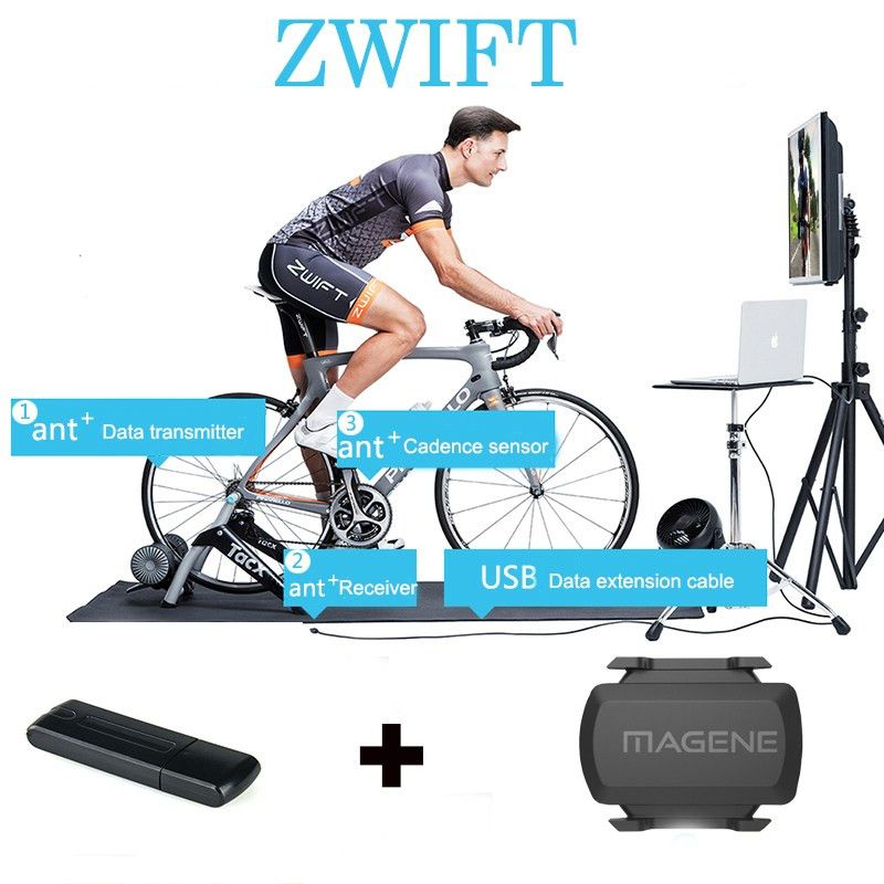 Ant+ USB Sticker for Zwift Tacx Wahoo Garmin Bkool Bicycle Trainer ...