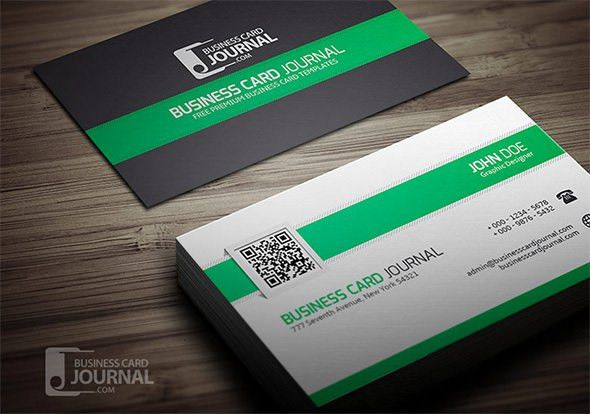 20+ Best QR Code Business Card Examples & Identity Mockups Free ...