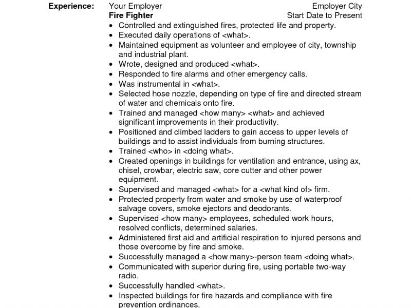 prissy inspiration firefighter resume examples 15 sample fire - Firefighter Resume Templates