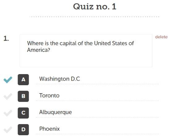 Create Printable Quiz Online Free: Quizzy