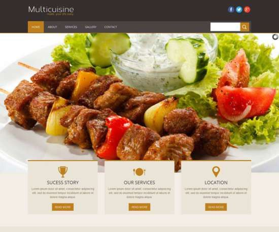 30 Free HTML/CSS Restaurant Website Templates = Delicious!! - XDesigns
