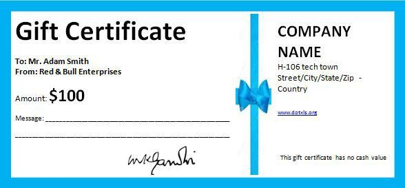 Birthday Gift Certificate Template | Word & Excel Templates