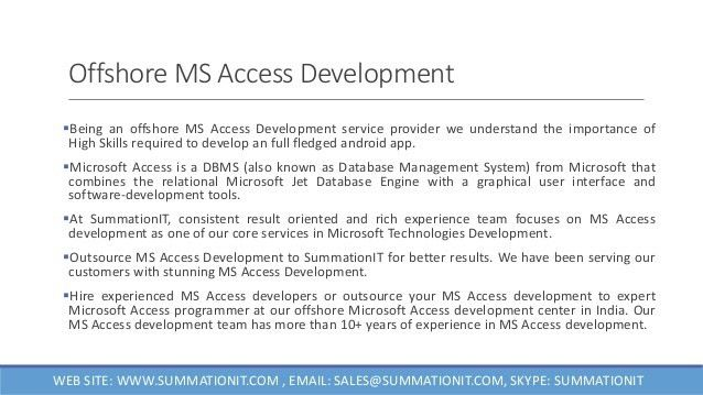 Offshore-ms-access-development- Microsoft Access Developer India