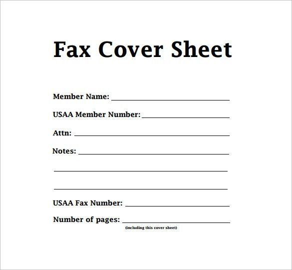 create fax cover sheet - Template