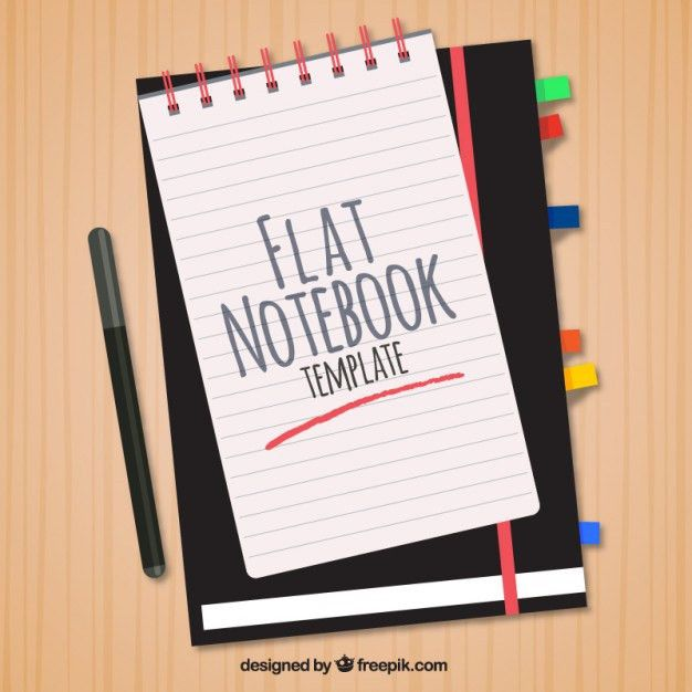 Nice flat style template for notebook Vector | Free Download
