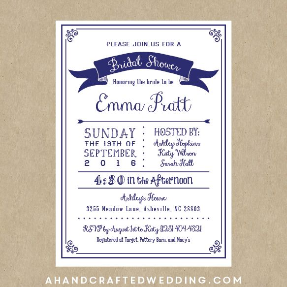 Diy Bridal Shower Invitations Templates - vertabox.Com