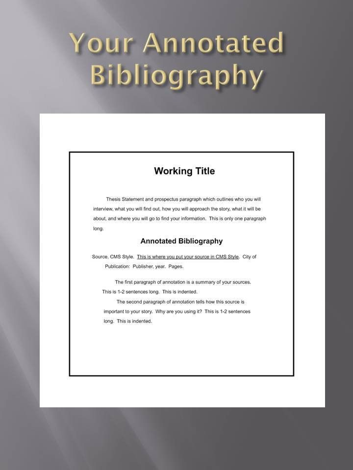Prospectus and Annotated Bibliography | Dr. K's Blog