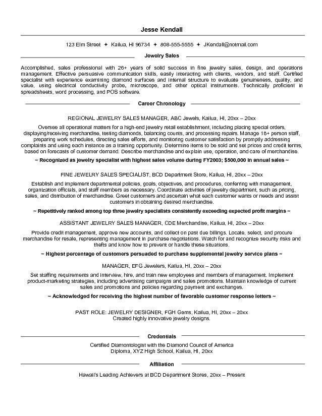 download professional business resume. retail sales associate ...