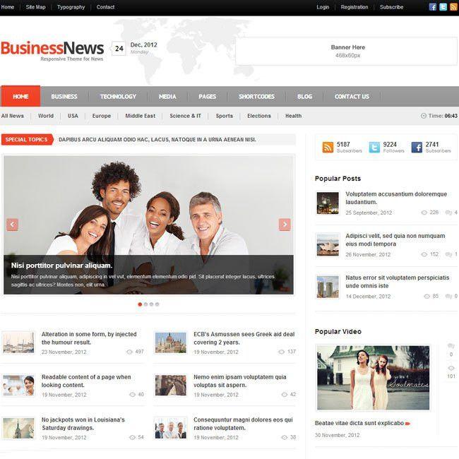 Business News - WordPress Theme   Best WordPress Themes 2017
