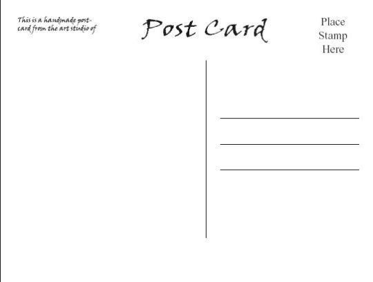 Postcard Print Template. mailing printable business postcard ...