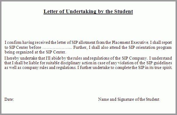 6+ undertaking letter example   hostess resume