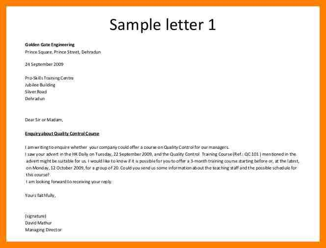 13+ email enquiry sample   coaching-resume