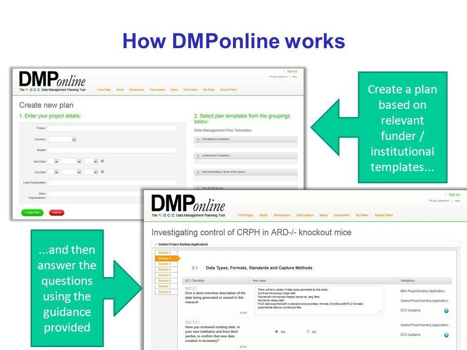 Data Management Planning. What is a DMP? A short plan that ...