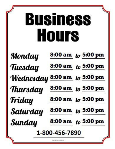 Business Hours Template Microsoft Word | business letter template