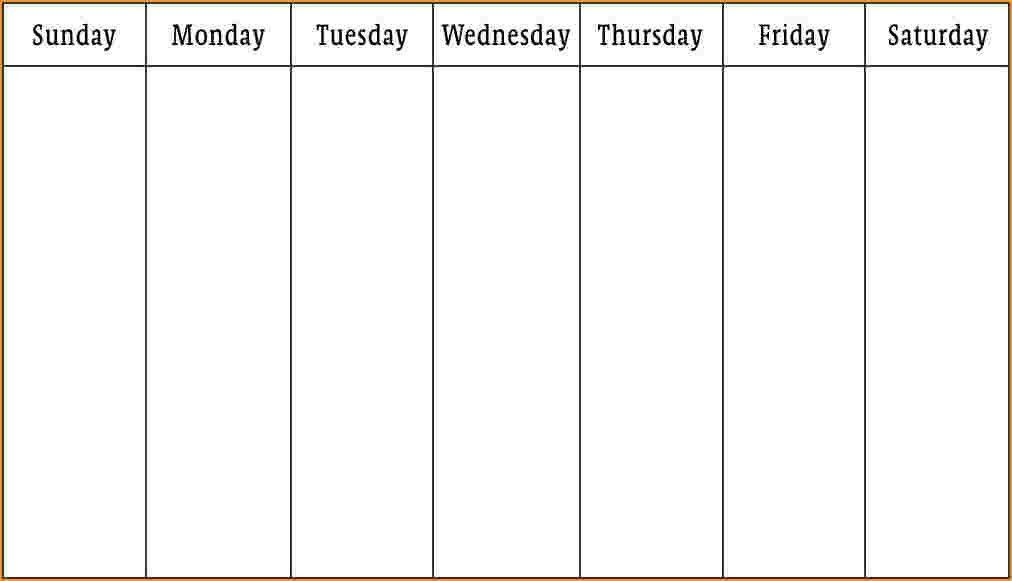 7+ week calendar template   Questionnaire Template