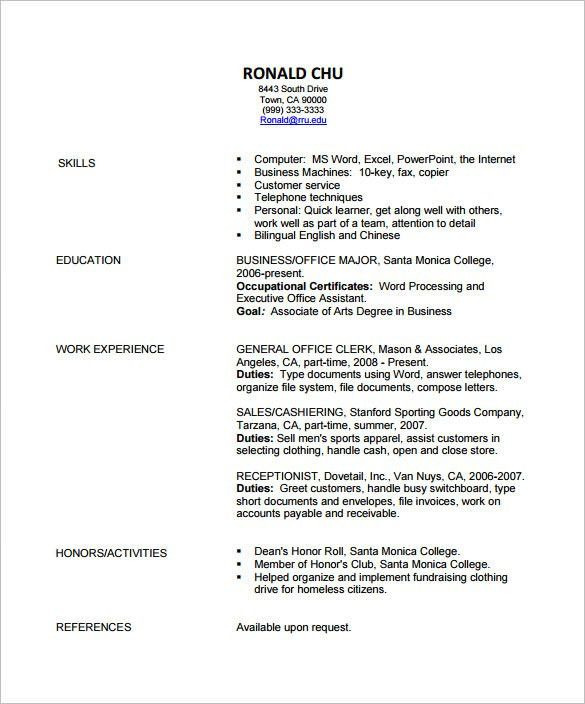 Fashion Resume Templates. Fashion Resume Templates Fashion ...