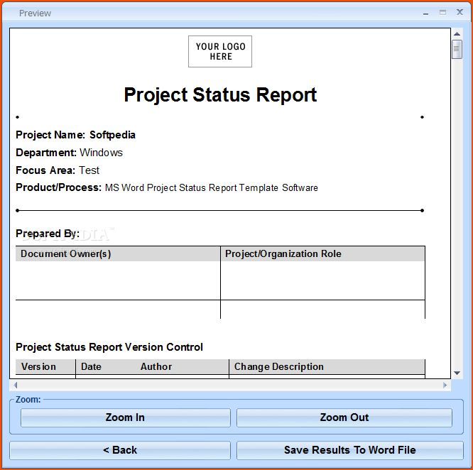 7+ project status report template - bookletemplate.org
