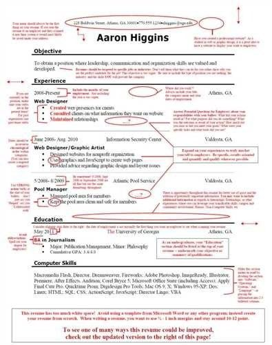 100+ Poor Resume Examples -Download Good Resumes ...