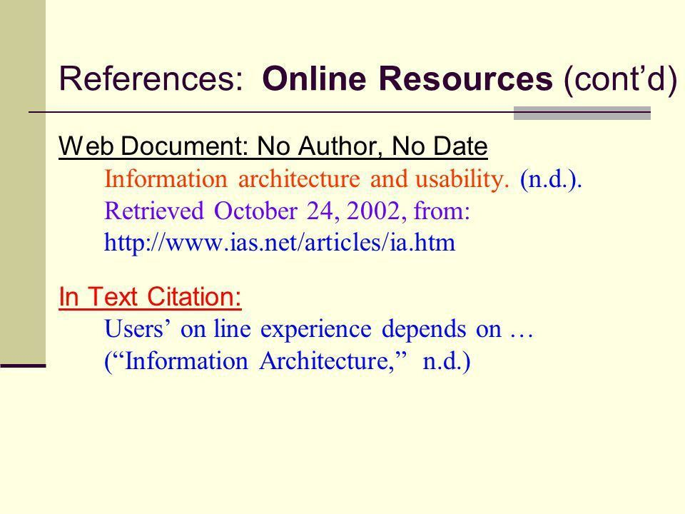 Apa Format In Text Citation Website With Author - Resume Acierta.us