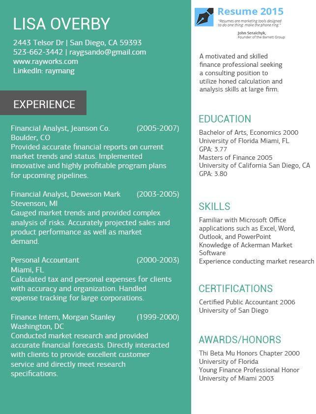 Online Resume Examples for 2015 http://www.resume2015.com/online ...