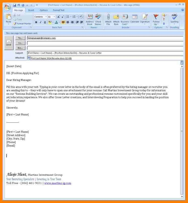 format for cover letter sent via email in cover letter email ...