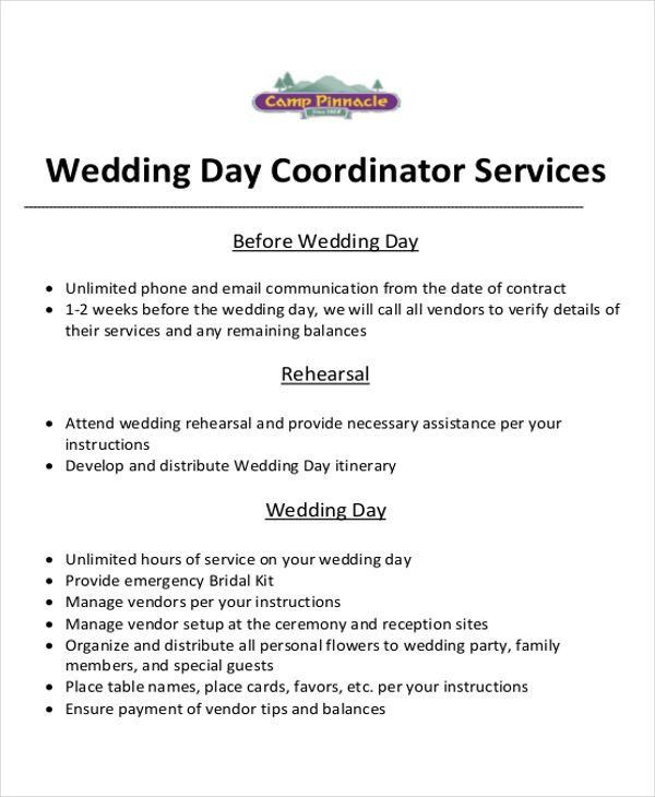 wedding planner contract wedding planner contract template stuff ...