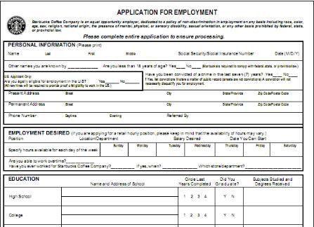Job Application Form For Mcdonalds - SampleBusinessResume.com ...