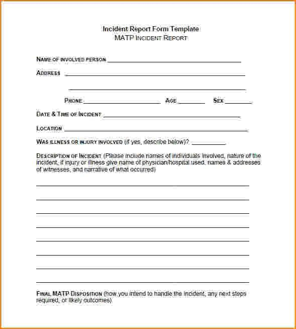 8+ incident report form template | bibliography format