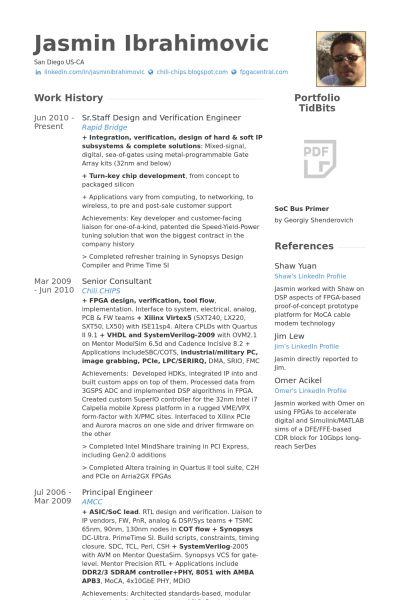 Staff Resume samples - VisualCV resume samples database