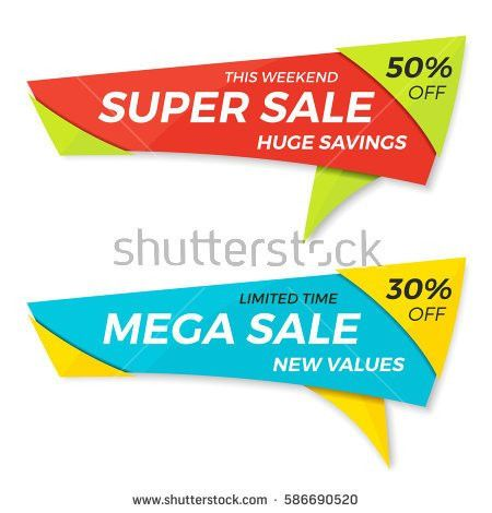 Sale Label Price Tag Banner Badge Stock Vector 593226890 ...