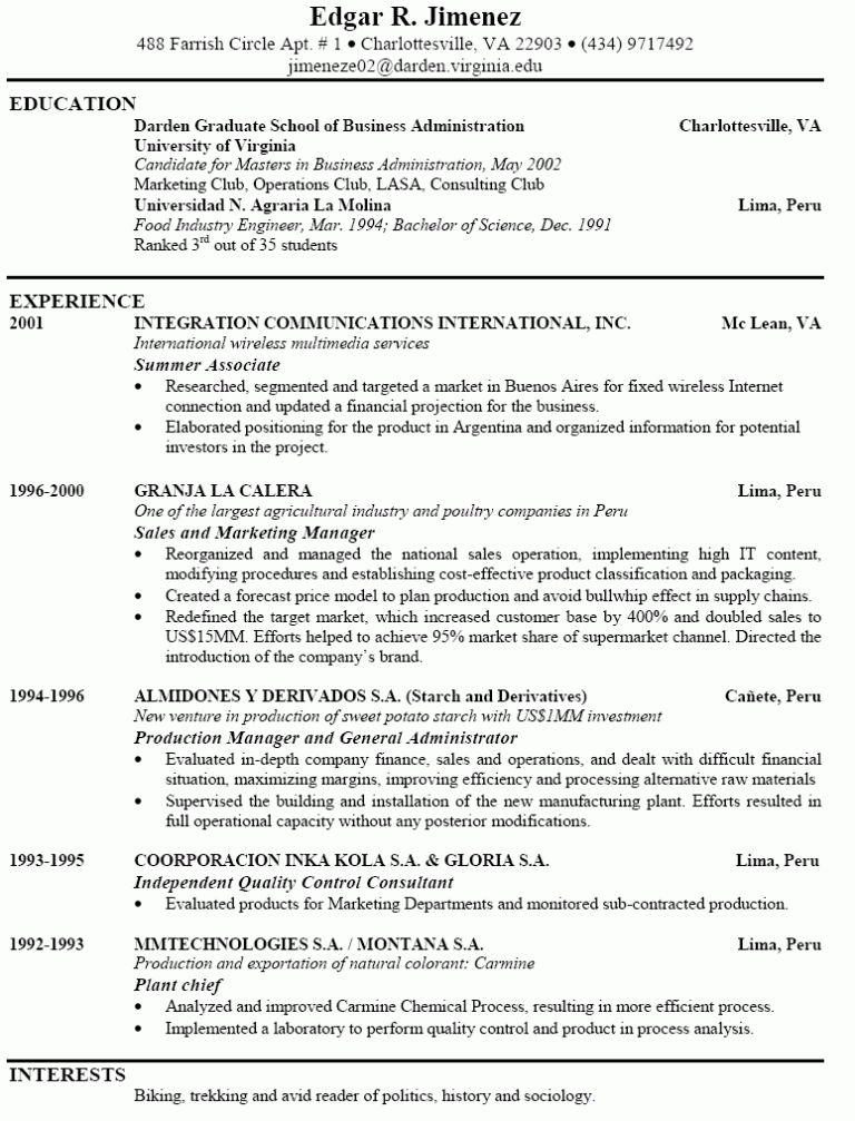 Interesting Idea Example Of Perfect Resume 1 Examples Good Resumes ...