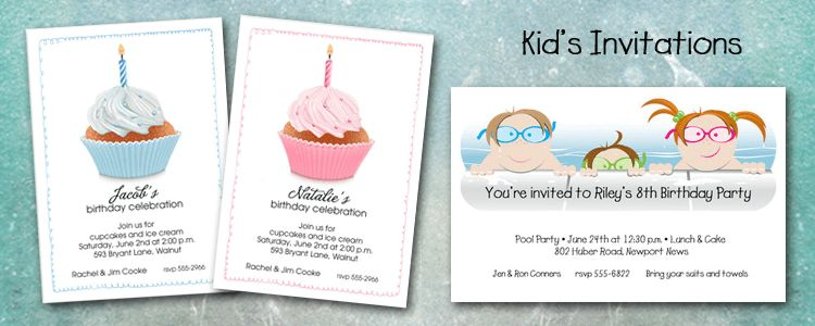 Wonderful Kid Birthday Party Invitations | THERUNTIME.COM