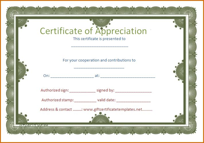 5+ certificate of appreciation template word ...