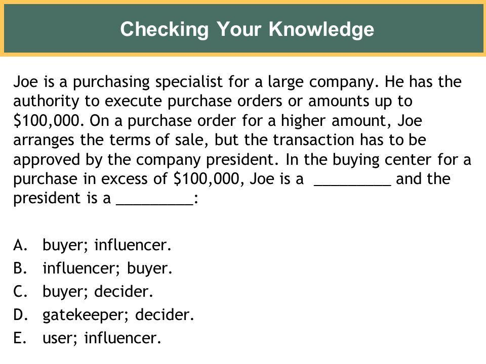 Business and Organizational Customers and Their Buying Behavior ...