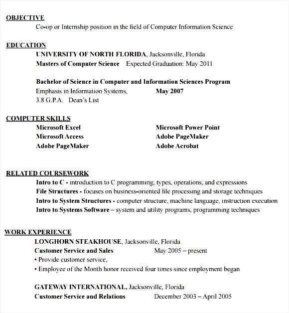 Internship Resume Templates. Internship Placement Resume Format ...