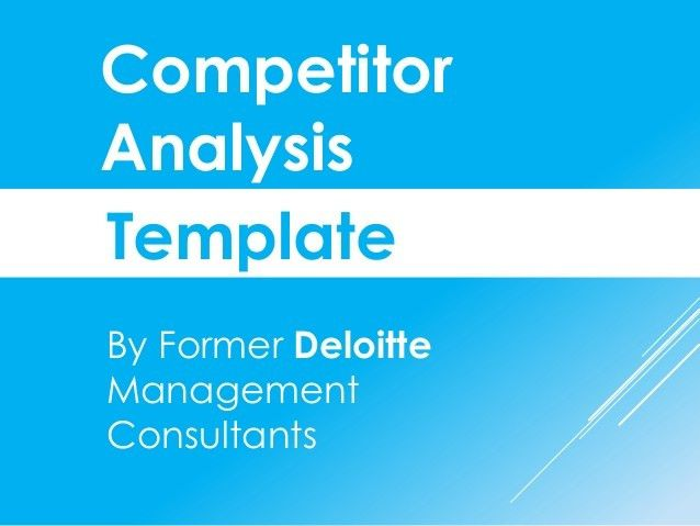 Competitive Analysis Report Template – Project Management ...