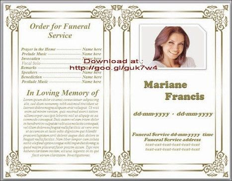 Blue Themed Funeral Program Template In Microso...
