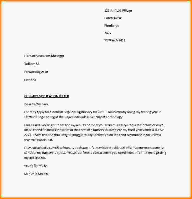 12+ motivation letter for bursary application examples | receipts ...