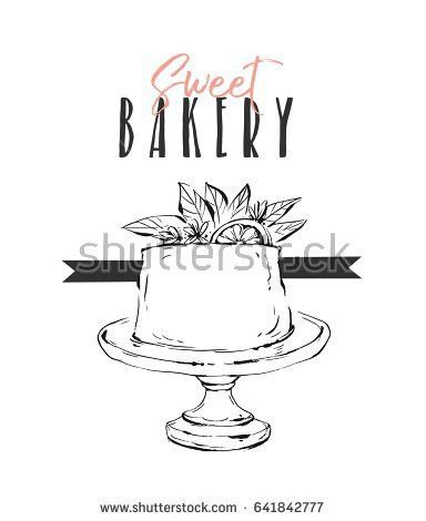 Hand Drawn Vector Cute Birthday Wedding Stock Vector 459828790 ...