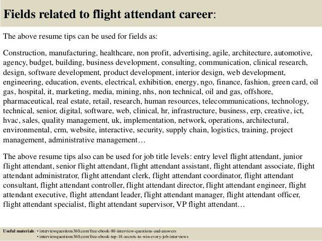 Top 12 flight attendant resume tips